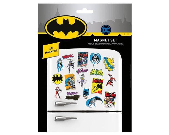 DC Comics (Batman Retro) Magnet Set - Μαγνητάκια Ψυγείου 18x24cm