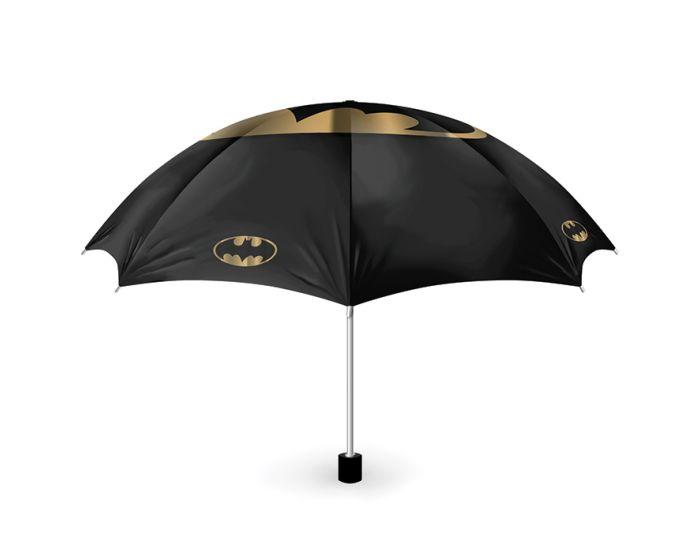 DC Comics Batman Umbrella Ομπρέλα Σπαστή - Bat and Gold