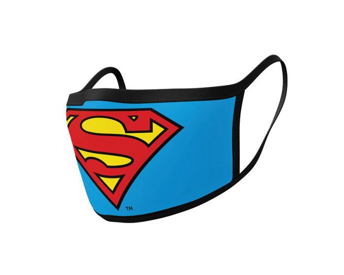 Pyramid Face Mask Προστατευτική Μάσκα Προσώπου 2 Τεμάχια - Superman (Logo)