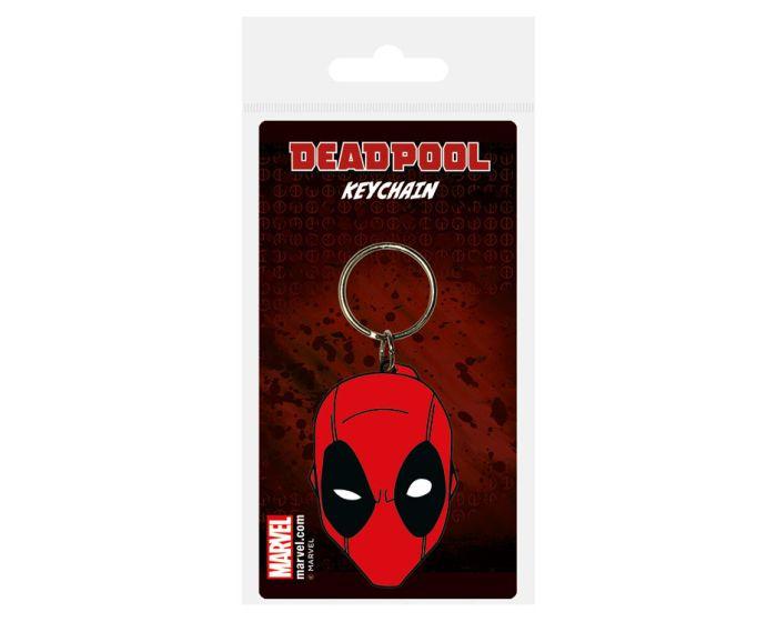 Deadpool (Face) Rubber Keychain - Μπρελόκ
