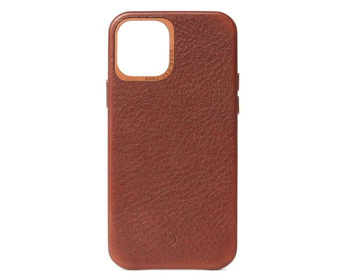 Decoded Leather Back Cover Δερμάτινη Θήκη Brown (iPhone 12 / 12 Pro)