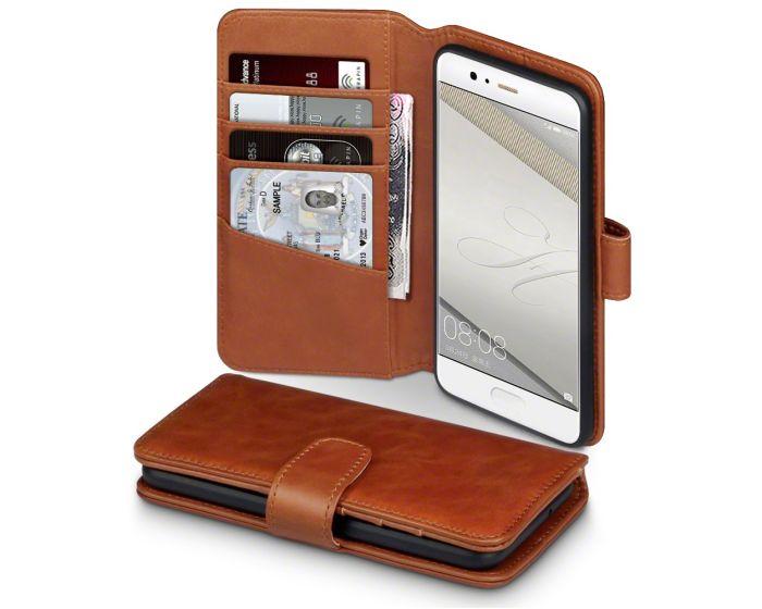 Terrapin Δερμάτινη Θήκη Πορτοφόλι Wallet Case (117-083-113) Καφέ (Huawei P10)