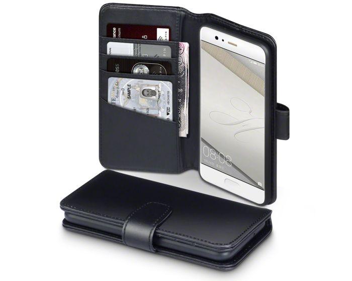 Terrapin Δερμάτινη Θήκη Πορτοφόλι Wallet Case (117-083-112) Μαύρο (Huawei P10)
