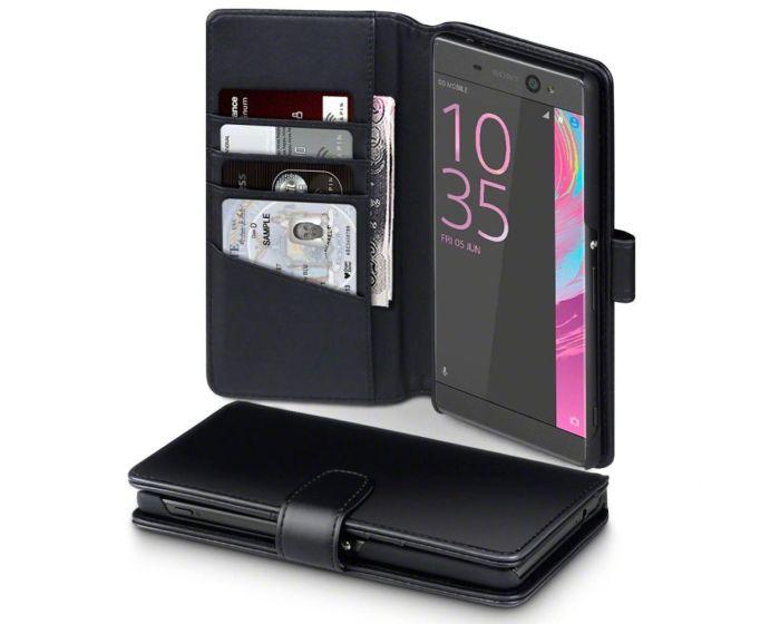 Terrapin Δερμάτινη Θήκη Πορτοφόλι Wallet Case (117-005-415) Μαύρο (Sony Xperia XA Ultra)
