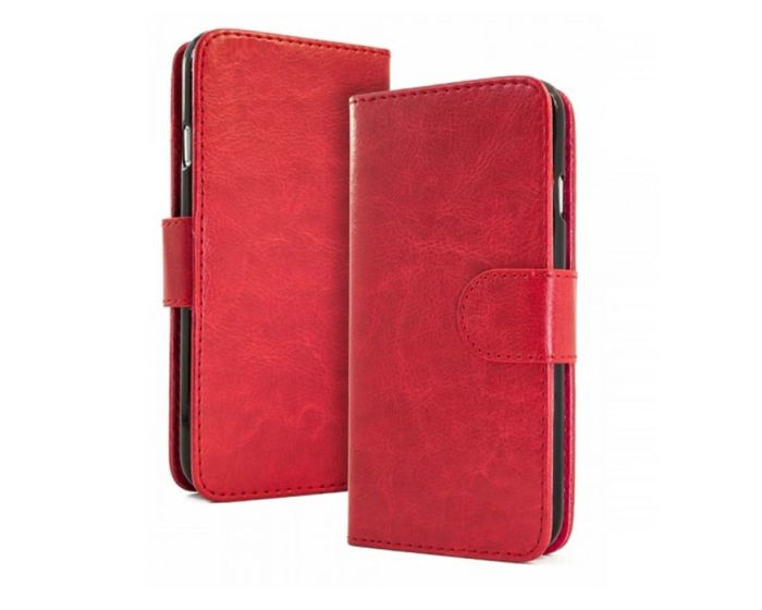 Forcell Detachable Wallet Case Θήκη Πορτοφόλι 2 in 1 Κόκκινη (Huawei Mate 9)