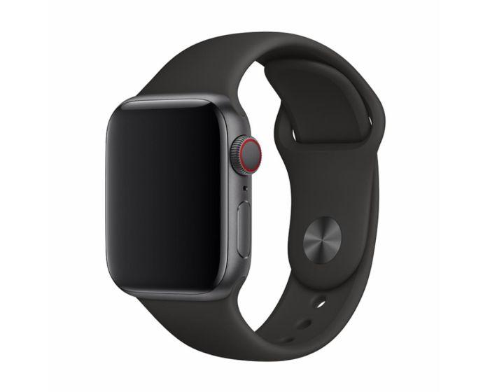 Devia Deluxe Sport Strap Black - Λουράκι Σιλικόνης για Apple Watch 42/44mm (1/2/3/4/5/6/SE)