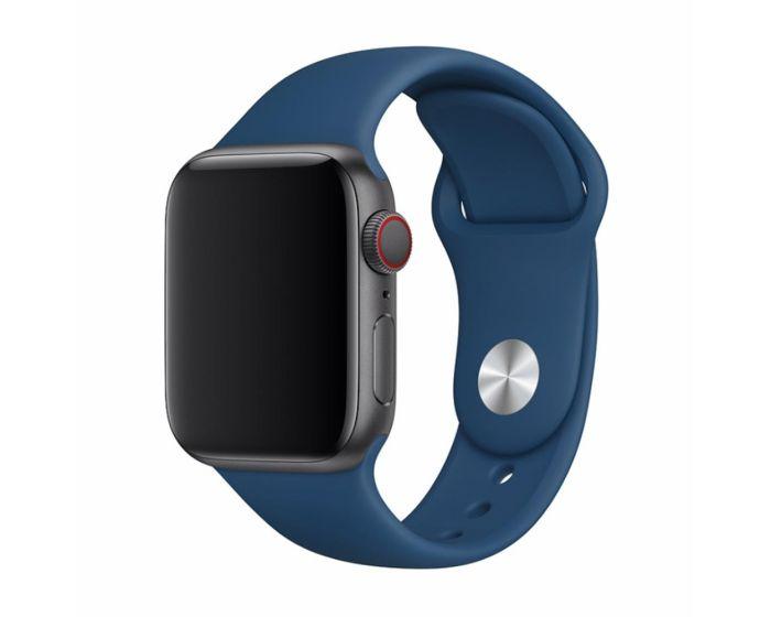 Devia Deluxe Sport Strap Blue Horizon - Λουράκι Σιλικόνης για Apple Watch 42/44mm (1/2/3/4/5/6/SE)