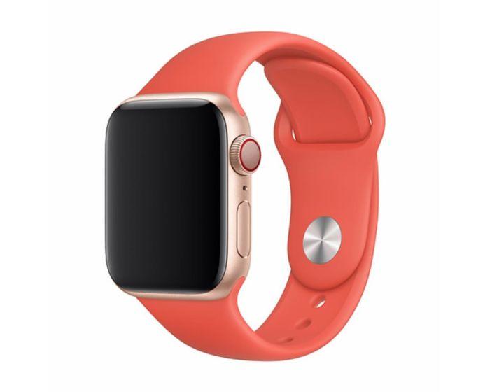 Devia Deluxe Sport Strap Nectarine - Λουράκι Σιλικόνης για Apple Watch 42/44mm (1/2/3/4/5/6/SE)