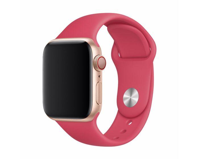 Devia Deluxe Sport Strap Red - Λουράκι Σιλικόνης για Apple Watch 42/44mm (1/2/3/4/5/6/SE)