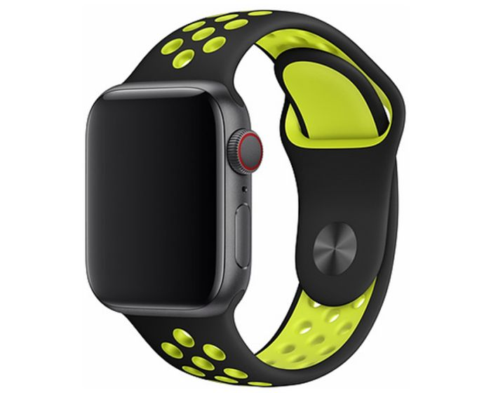 Devia Deluxe Sport2 Strap Yellow - Λουράκι Σιλικόνης για Apple Watch 38/40mm (1/2/3/4/5/6/SE)