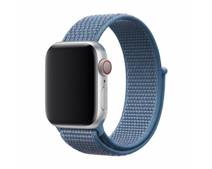 Devia Deluxe Sport3 Strap Υφασμάτινο Λουράκι Cape Cod Blue για Apple Watch 38/40mm (1/2/3/4/5/6/SE)
