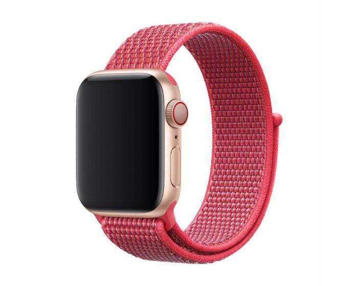 Devia Deluxe Sport3 Strap Υφασμάτινο Λουράκι Hibiscus για Apple Watch 38/40mm (1/2/3/4/5/6/SE)