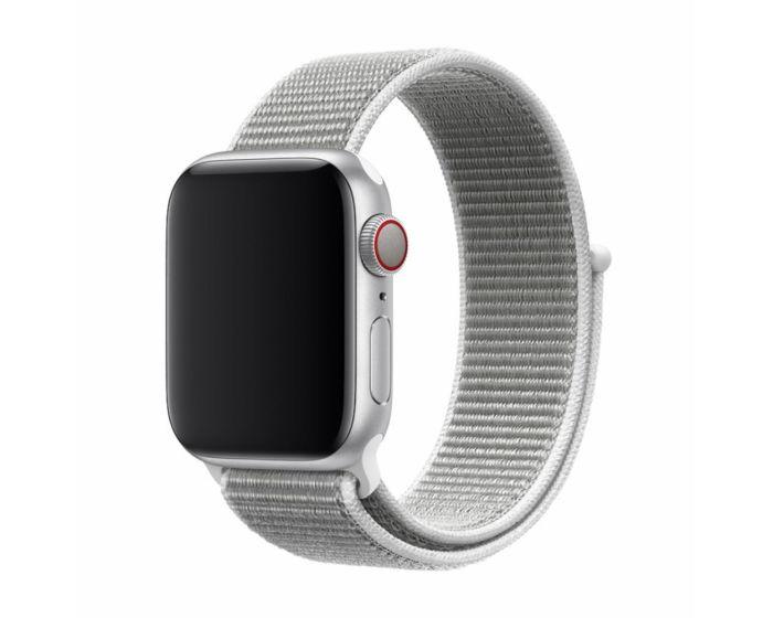 Devia Deluxe Sport3 Strap Υφασμάτινο Λουράκι Seashell για Apple Watch 42/44mm (1/2/3/4/5/6/SE)