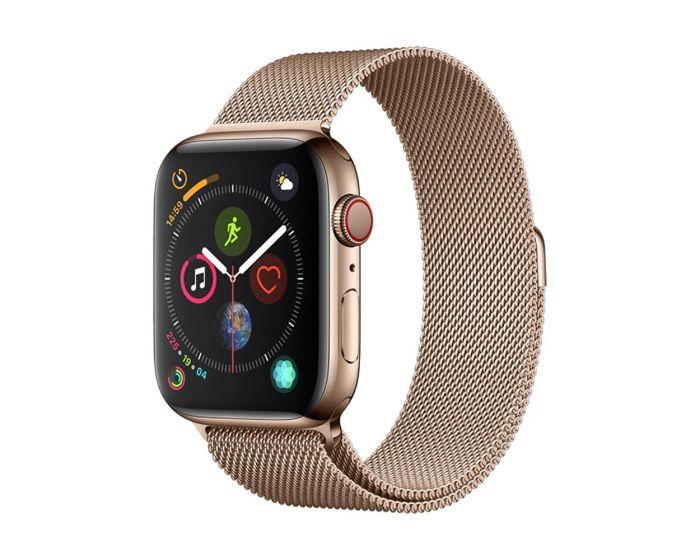 Devia Elegant Milanese Strap Stainless Steel Gold για Apple Watch 42/44mm (1/2/3/4/5/6/SE)