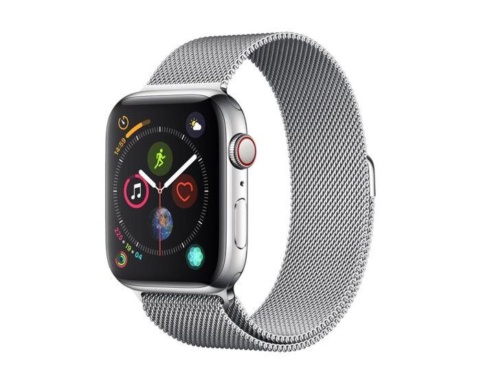 Devia Elegant Milanese Strap Stainless Steel Silver για Apple Watch 42/44mm (1/2/3/4/5/6/SE)