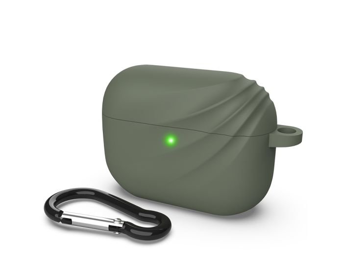 Devia Elf2 Silicone Case Θήκη Σιλικόνης για τα Apple Airpods Pro  - Green