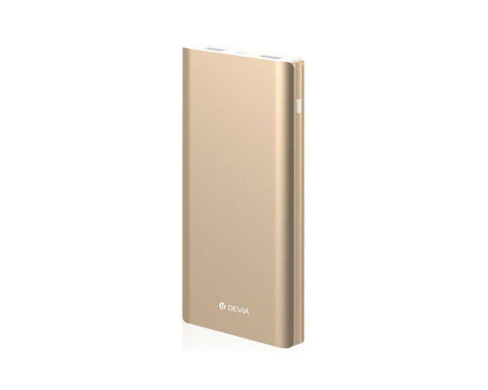Devia King Kong QC3.0 10000mAh Power Bank Μεταλλική Εξωτερική Μπαταρία - Champagne Gold