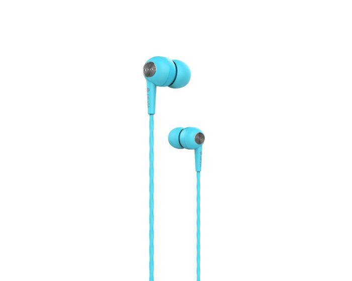 Devia Kintone In-Ear Headphones Hands Free Ακουστικά Blue