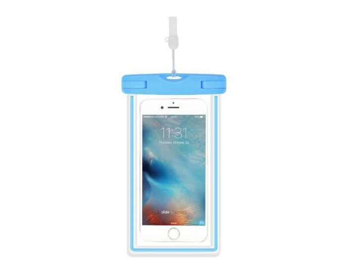 Devia Ranger Universal Waterproof Phone Case BRA006726 - Αδιάβροχη Θήκη για Κινητά έως 6'' Blue