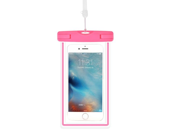 Devia Ranger Universal Waterproof Phone Case - Αδιάβροχη Θήκη για Κινητά έως 6'' Pink