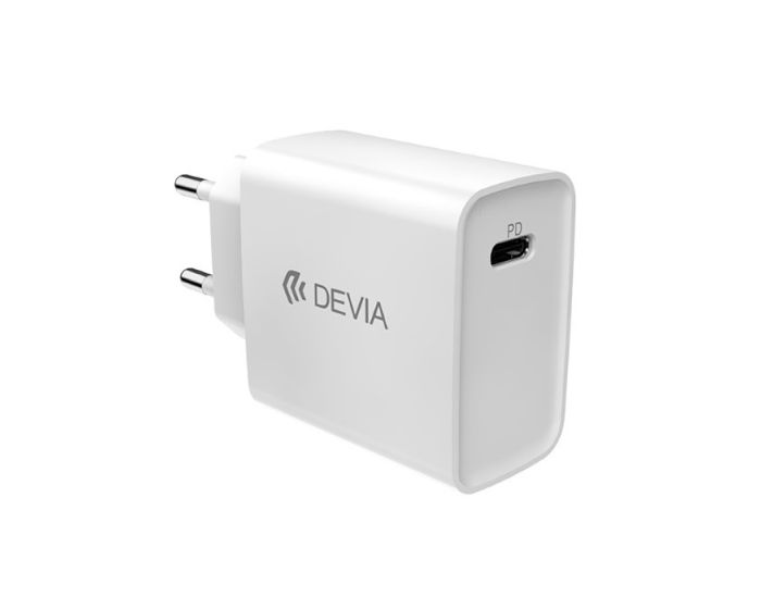 Devia Smart Series PD Wall Charger Type-C - Αντάπτορας Φόρτισης Τοίχου 3A 20W - White
