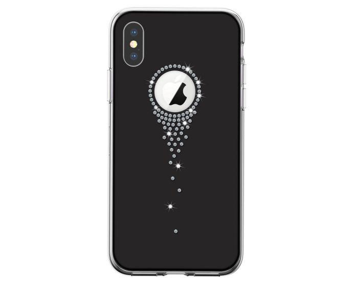 Devia Angel Tears Strass Hard Case Σκληρή Θήκη με Στρας - Black (iPhone XR)