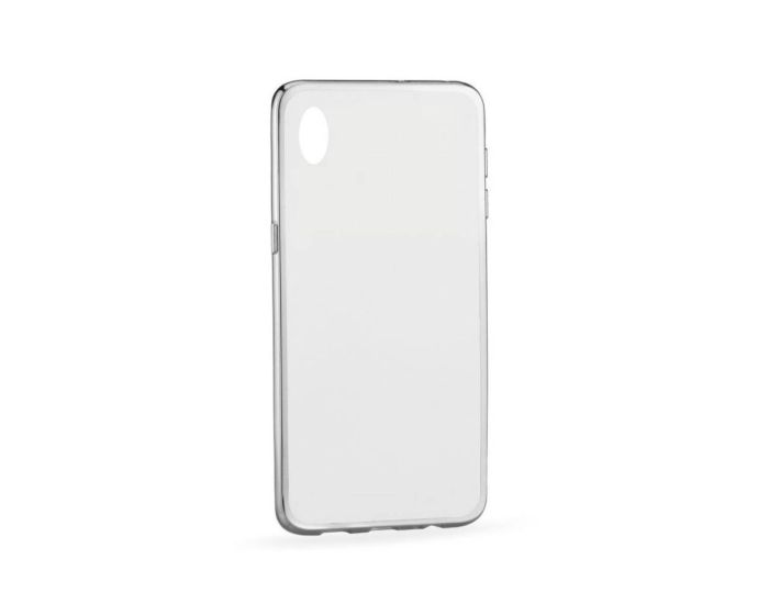 Forcell Electro Bumper Silicone Case Slim Fit - Θήκη Σιλικόνης Clear / Silver (HTC Desire 820)