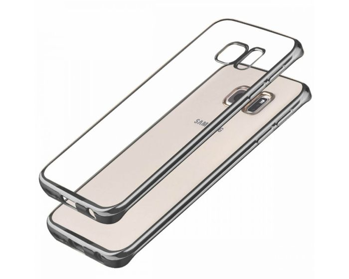 Forcell Electro Bumper Silicone Case Slim Fit - Θήκη Σιλικόνης Clear / Gray (Samsung Galaxy S6 Edge Plus)