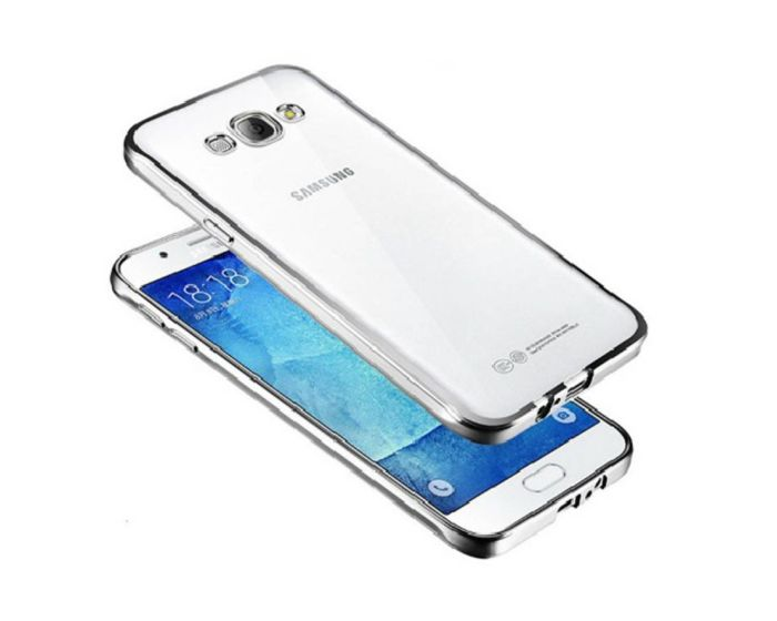 Forcell Electro Bumper Silicone Case Slim Fit - Θήκη Σιλικόνης Clear / Black (LG K7)