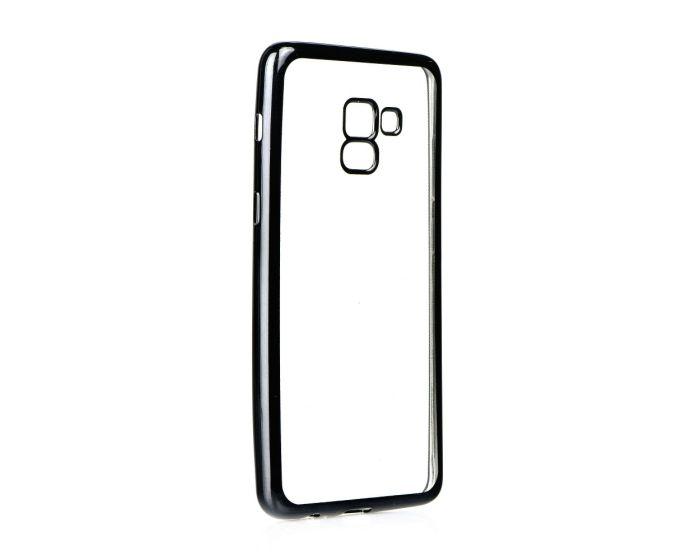 Forcell Electro Bumper TPU Silicone Case Slim Fit - Θήκη Σιλικόνης Clear / Black (Samsung Galaxy A8 Plus 2018)