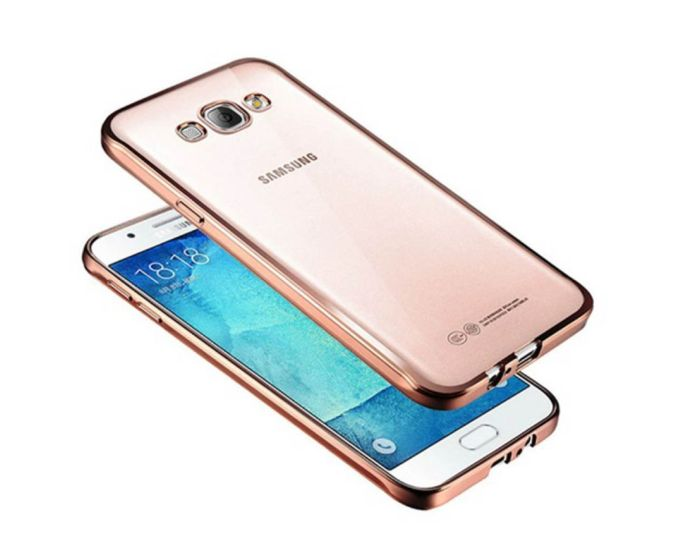 Forcell Electro Bumper Silicone Case Slim Fit - Θήκη Σιλικόνης Rose / Gold (LG K4)