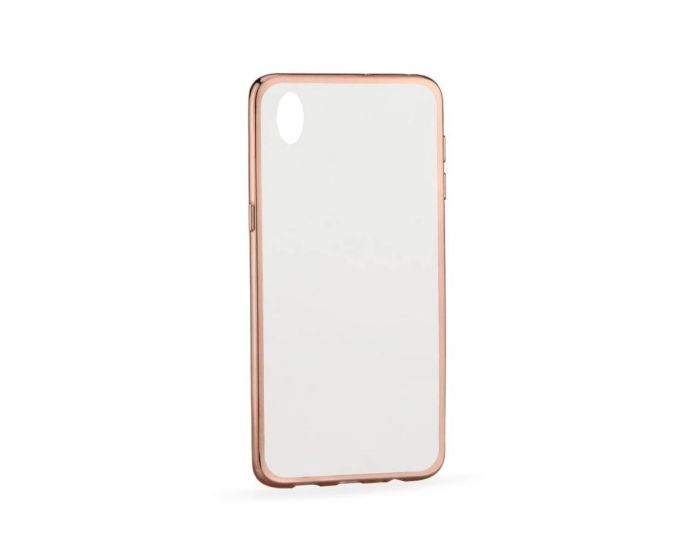 Forcell Electro Bumper Silicone Case Slim Fit - Θήκη Σιλικόνης Clear / Rose (HTC Desire 820)