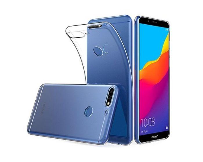 TPU Ultra Slim Case & Tempered Glass - Διάφανο (Huawei Y6 Prime 2018)