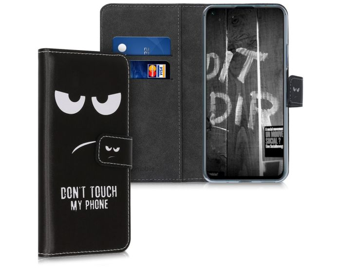 KWmobile Wallet Case Θήκη Πορτοφόλι με δυνατότητα Stand (51488.03) Don't touch my phone (Huawei Nova 5T / Honor 20)