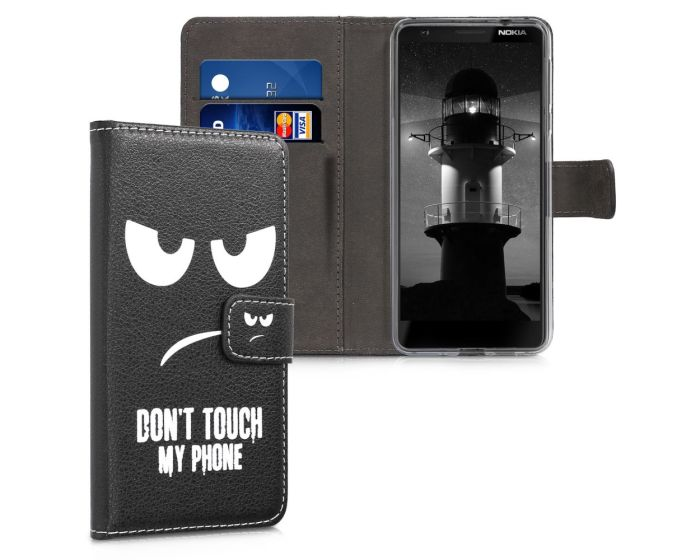 KWmobile Wallet Case Θήκη Πορτοφόλι με δυνατότητα Stand (45398.01) Don't touch my phone (Nokia 3.1 2018)