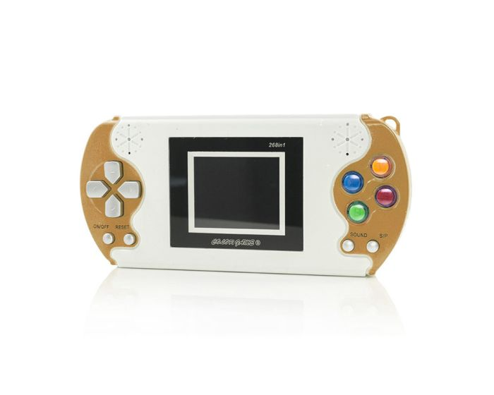 Digital Pocket Hand Console 268 Games (8630) Gold