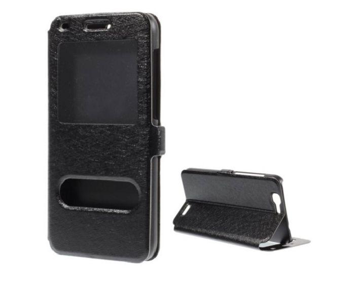 Dual Window Preview Case - Μαύρο Sparkle (Huawei Ascend G7)