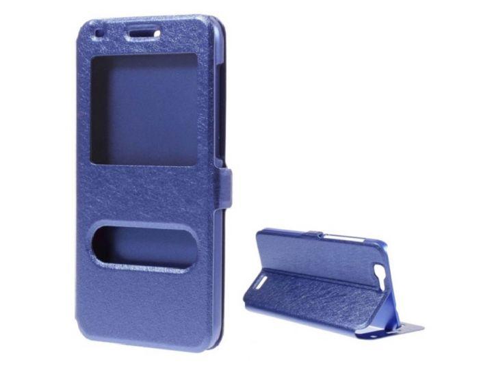 Dual Window Preview Case - Μπλε Sparkle (Huawei Ascend G7)