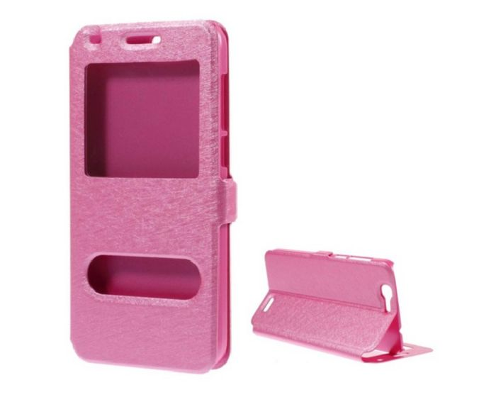 Dual Window Preview Case - Ροζ Sparkle (Huawei Ascend G7)