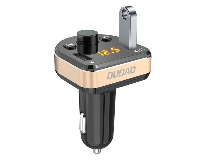 Dudao R2Pro FM Transmitter Car Charger 2x USB 3.1A Φορτιστής Αυτοκινήτου Black