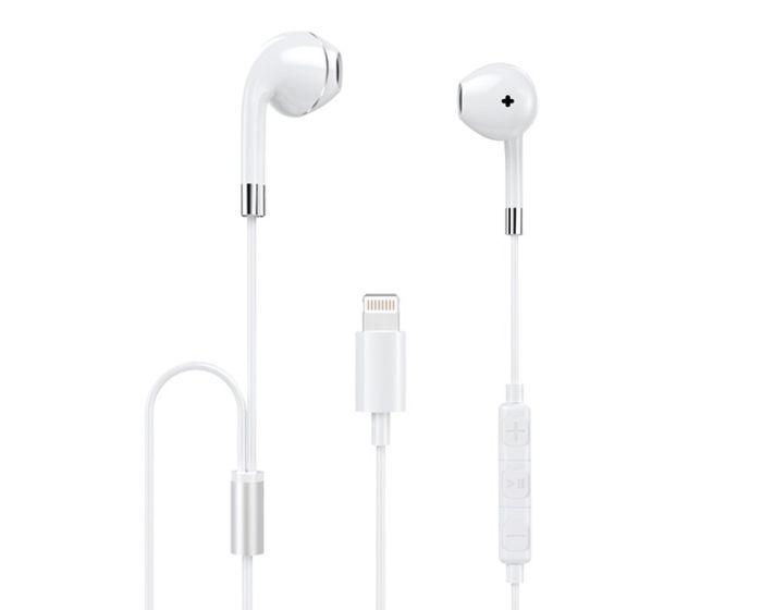 Dudao U1PRO In-Ear Earphones MFI Lightning Ενσύρματα Ακουστικά - White