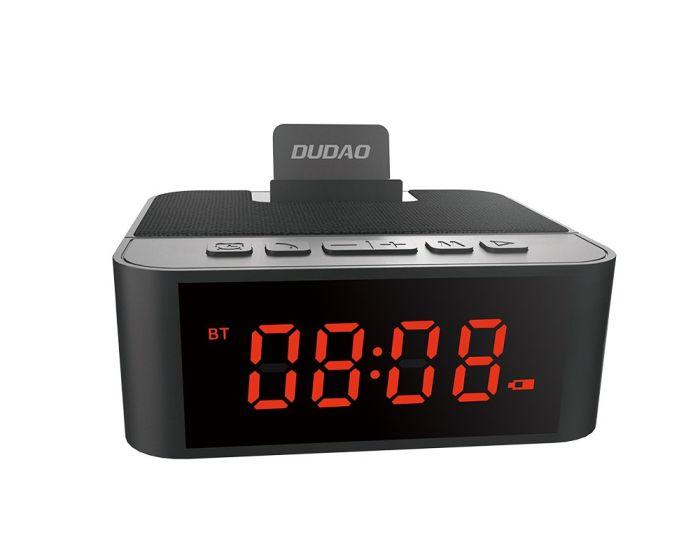 Dudao Y5 AUX Multifunctional Bluetooth Speaker Alarm Clock Ασύρματο Ηχείο - Μαύρο
