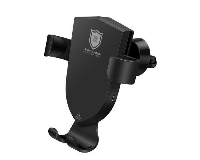 Dux Ducis C2 Gravity Vent Car Mount Wireless Charger + 2x USB Car Charger QC3.0 Black