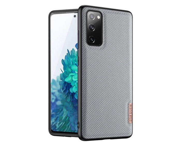DUX DUCIS Fino TPU and Fabric Case - Crystal Blue (Samsung Galaxy S20 FE)