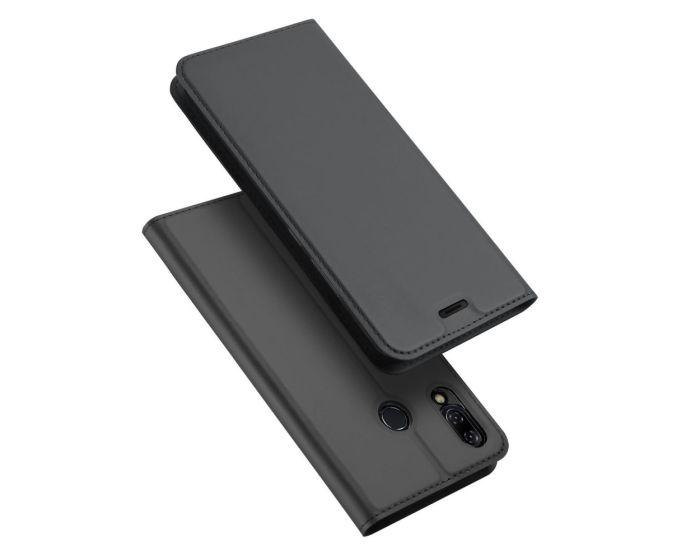 DUX DUCIS SkinPro Wallet Case Θήκη Πορτοφόλι με Stand - Gray (ZENFONE 5 ZE620KL)