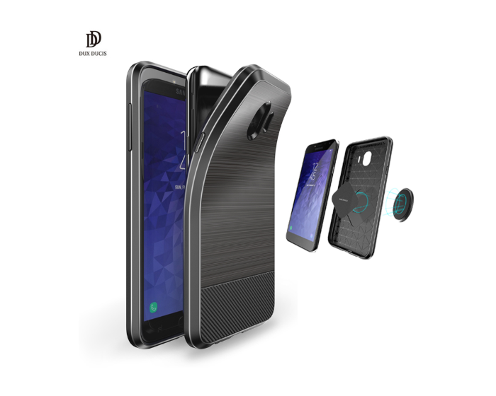 Dux Ducis Mojo Carbon Rugged Armor Case Black (Samsung Galaxy J4 2018)