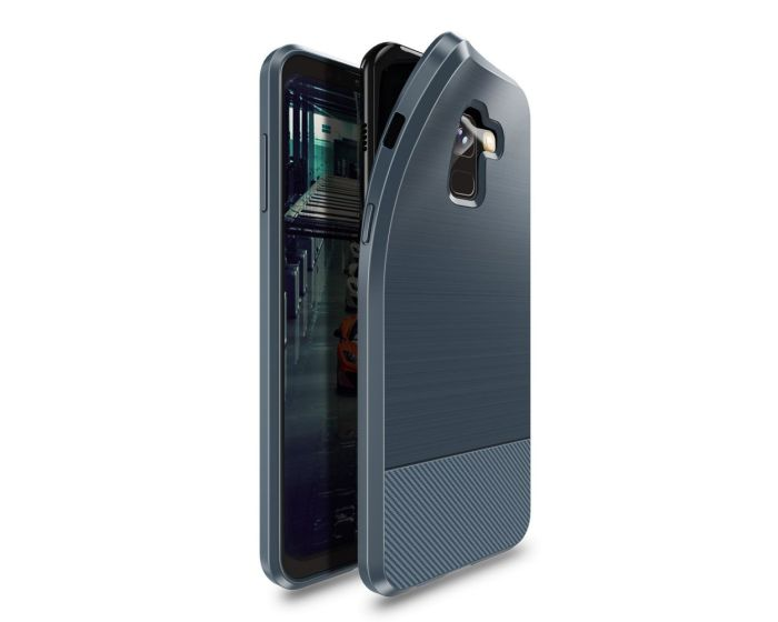 Dux Ducis Mojo Carbon Rugged Armor Case Deep Blue (Samsung Galaxy A8 Plus 2018)