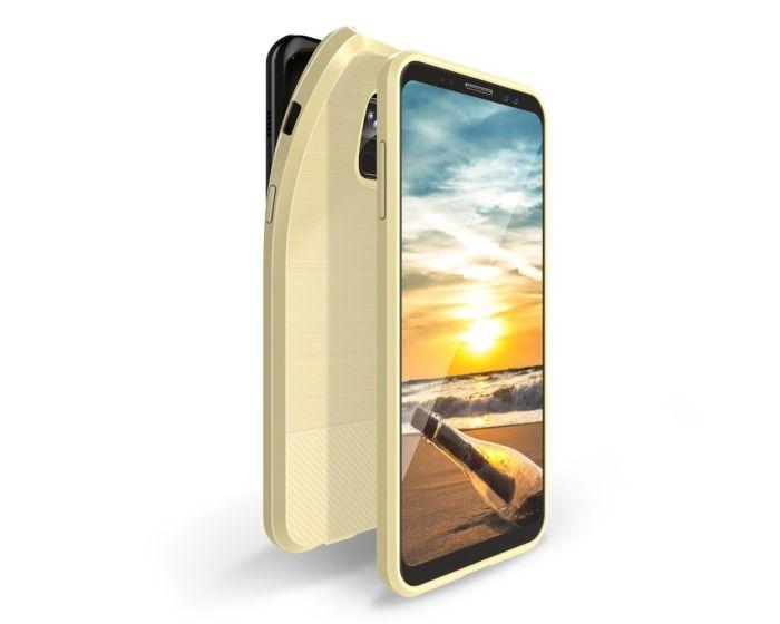 Dux Ducis Mojo Carbon Rugged Armor Case Gold (Samsung Galaxy A8 2018)
