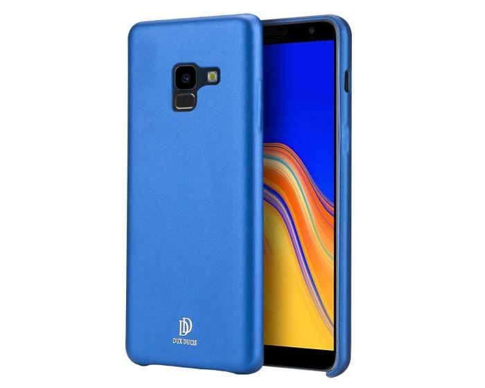 DUX DUCIS Skin Lite PU Leather Back Cover Case - Blue (Samsung Galaxy A8 Plus 2018)
