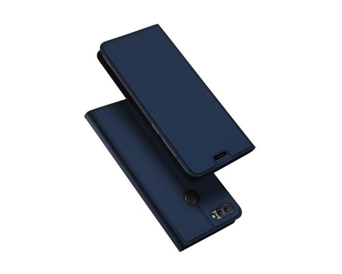 DUX DUCIS SkinPro Wallet Case Θήκη Πορτοφόλι με Δυνατότητα Stand - Navy Blue (Huawei Y9 2018)